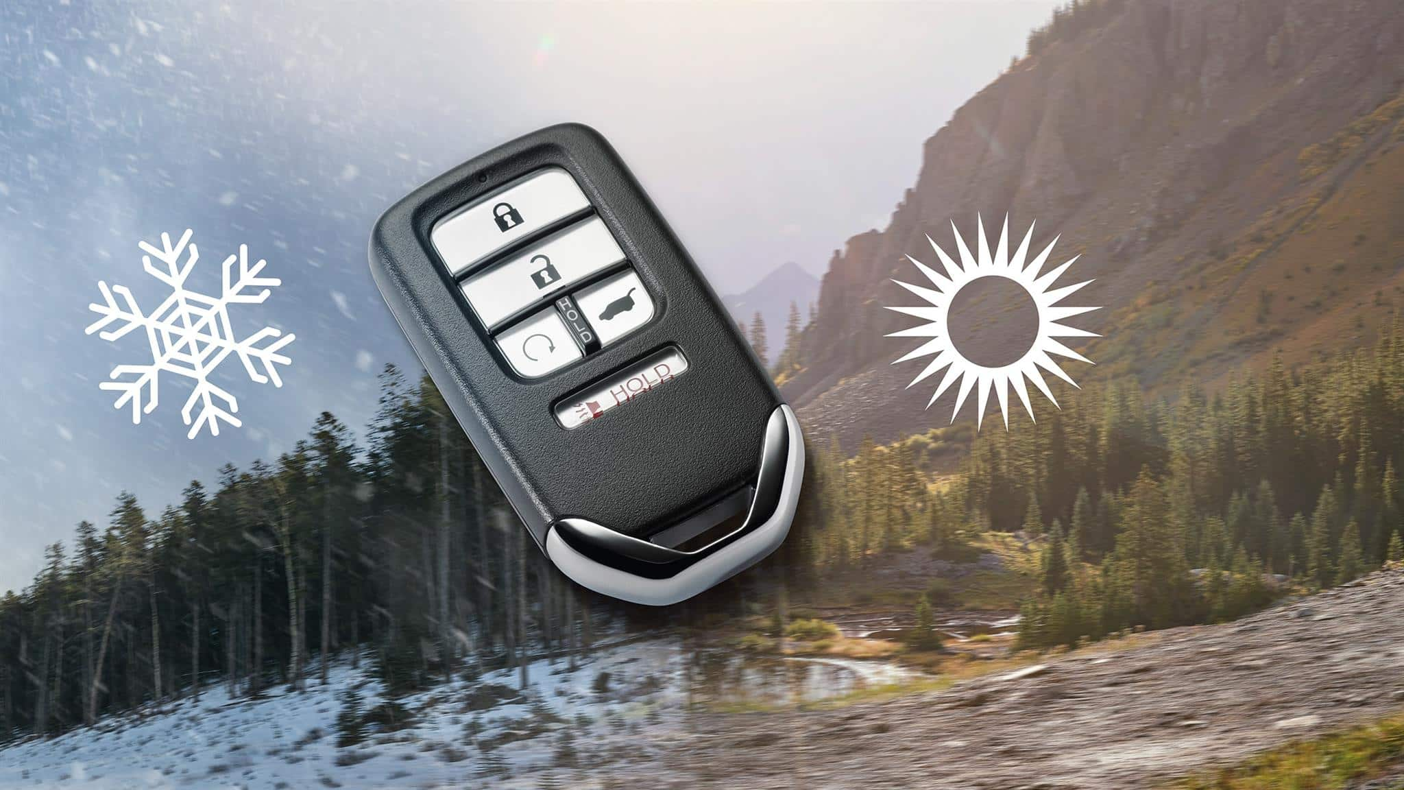 Remote engine start key fob for the 2019 Honda Passport.